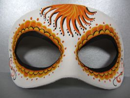 Day of the Dead orange mask by maskedzone