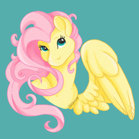 Button Design: Fluttershy by RottingRoot