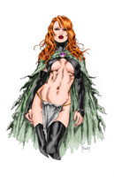 Goblin Queen (colored) by Exectech