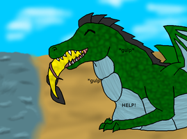 -COMMISSION- Croc food by Del-GirlX