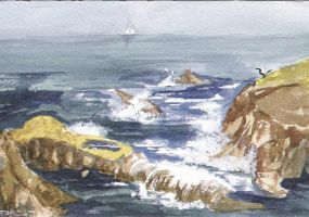 Dana Point Waves by SylvanCreatures