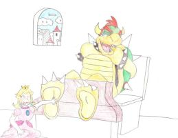 Peach tickles bowser -crappy- by zp92