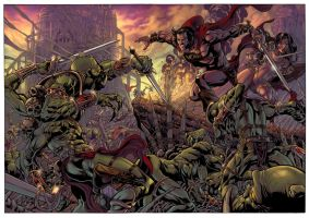 warriors of mars cover. by jackjadson