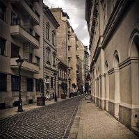 old downtown street by piximi