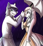 Caught inthe Rain by WolfRoxy