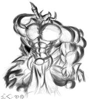 Quick Sketch - Wargreymon by EmotionCreator