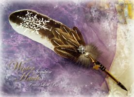 WINTER HAWK Feather Quill Pen by ChaeyAhne