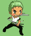 Zoro and his Swords by IcyPanther1