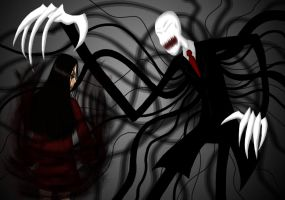 Slenderman VS Alma Wade by JadeElements
