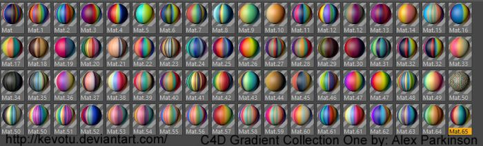 C4D Gradient Collection I by kevotu
