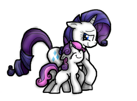 Rarity and Sweetie Bell by KariTheKittyKat