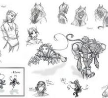 V 'n' D sketches by animon