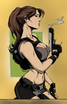 Lara Croft Ink By Inker Guy-d5sadk0 Colored1 by waropton