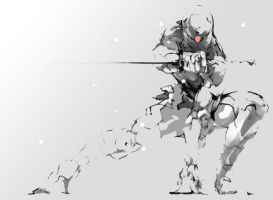 grey fox by black-dog666
