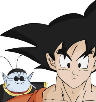 Goku And King Kai by RiddlerPower