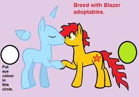 free MLP breeding/adoptables: Blazer and your OC by bloostormbrony