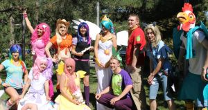 Celestia and Friends -NDK 2011 by VGJustice