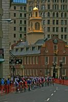 Racing By The Old State House by padawan71