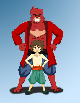 The Boy and the Beast (Bakemono no Ko) by nwizard2
