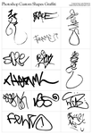 Photoshop Shapes: Graffiti by lukeroberts