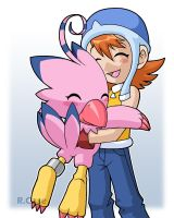 Sora and Byomon by rongs1234