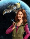 Kaylee and Serenity - Firefly Fan Art by Nightlyre