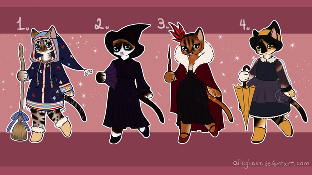 [CLOSED 3/4] Auction: Witchy cats by ailaghast