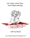 DW - Fingerpainting with the Eighth Doctor by caycowa
