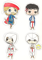 Old Time Assassins CHIBIS by Dj-DiscoStrings