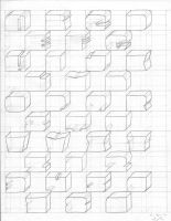 Cube Typography rough draft by erkart