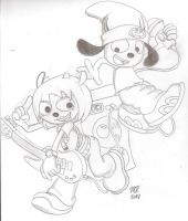 Parappa and Lammy by SpongeDudeCoolPants