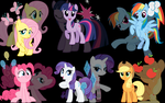 Mane Six Wallpaper by Scoutaloo