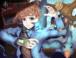 Newton Scamander and his Fantastic Beasts... by Hiro-Arts