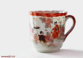 Japanese Antique Porcelain Cup by theresahelmer
