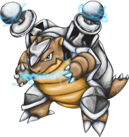 Electric Blastoise C2 - P1 by AriellaMoonstone