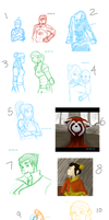 Korra sketch dump :P by Zugoldragon