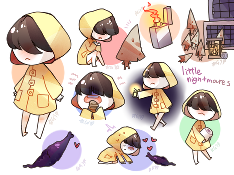 Little Nightmares Sketches by Goatartjello
