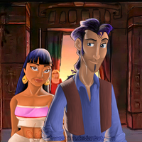 Tulio and Chel by dinosapien