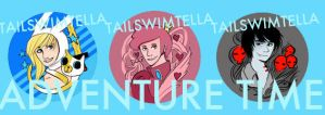 Adventure Bend Buttons by TailswimTella