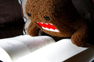 Quiet, Domo is reading. by luisgzuzuarregui