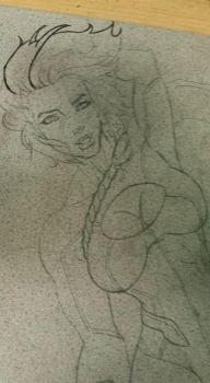 Crater City Comix Tombs WIP Power Girl Pencil by Wolfgang-Blaine