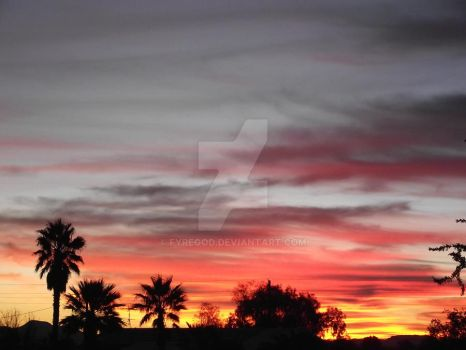 Arizona Sunset 02 by FYREGOD