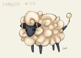 Daily Doodle #227 - Mareep by Mr-Sage