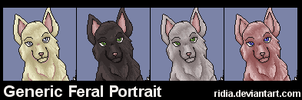 Generic Feral Wolf Portrait 01 by ridia