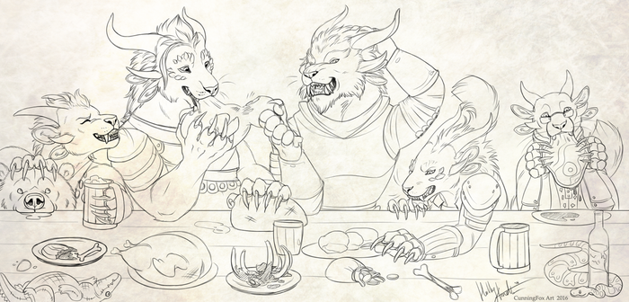 A feast of charrs by Bear-hybrid
