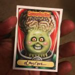 GPK Alien IAN Sketch Card by Layron DeJarnette by DeJarnette