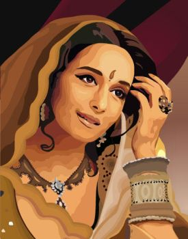 Vector Art - Traditional Woman by rames