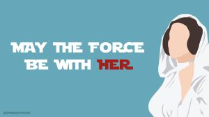 Princess Leia (Star Wars) Minimalist Wallpaper by Sephiroth508