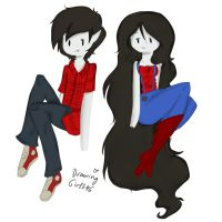 Marshall and Marceline by Drawing-Heart