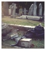 trousers and gravestone by divinedecay